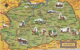 MAP CARD -SURREY - Maps