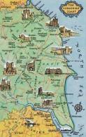 MAP CARD -YORKSHIRE COAST - Maps