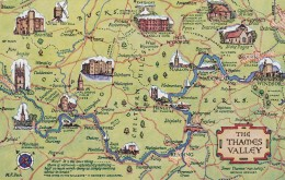 MAP CARD -THE THAMES VALLEY - Maps