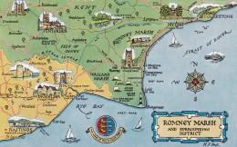 MAP CARD  -ROMNEY MARSH - Maps