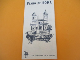 ITALIE/Plan Touristique De La Ville De ROME/ Plano De Roma/Staderini/ Vers 1930-1950        PGC203 - Geographische Kaarten