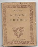 W.M.THACKERAY, A LEGEND OF THE RHINE, RHOMBUS EDITION, PARIS-VIENNA 1922 - 1900-1949