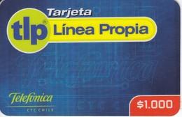 TARJETA DE CHILE DE TELEFONICA DE $1000 DE LINEA PROPIA - Chili