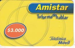TARJETA DE CHILE DE TELEFONICA DE $3000 DE AMISTAR - Chile