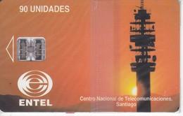 TARJETA DE CHILE DE CENTRO NACIONAL DE SANTIAGO (NUEVA-MINT) ANTENA TELECOMUNICACIONES - Chile
