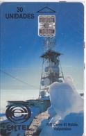 TARJETA DE CHILE DE UNA ANTENA DE TELECOMUNICACIONES (SATELLITE) NUEVA-MINT - Chili