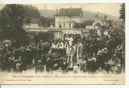 10 - BAR SUR SEINE / FETE DU CHAMPAGNE 1921 - CHARS DE POLISY ET POLISOT - Bar-sur-Seine