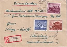 ALLEMAGNE 1944 LETTRE RECOMMANDEE DE TODTNAU AVEC CACHET ARRIVEE KONSTANZ - Germany