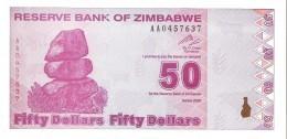 Zimbabwe - Pick 96 - 50 Dollars 2009 - Unc - Zimbabwe