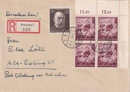 ALLEMAGNE 1944 LETTRE RECOMMANDEE  DE FREISING AVEC CACHET ARRIVEE OLCHING - Germany