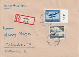 ALLEMAGNE 1944 LETTRE RECOMMANDEE  DE OLCHING  AVEC CACHET ARRIVEE MUNICH - Germany