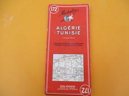 Carte Routiére Pneu MICHELIN/Algérie-Tunisie/N°172/Services De Tourisme/Agrandissements Oran-Alger-Tunis/1958   PGC205 - Geographische Kaarten