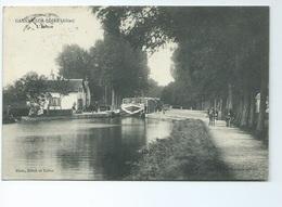 Gannay Sur Loire L' Ecluse Nicot Hotel Et Tabac Anes Attelage 1913 Peniche Bois Page Coll Carte Animee - Frankreich