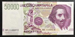 50000 Lire BERNINI II° TIPO SERIE E 1999 Fds  LOTTO.566 - [ 2] 1946-… : République