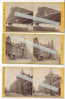 3 Stéréos EDINBURGH SCOTLAND PHOTO STEREO CIRCA 1865 /FREE SHIPPING REGISTERED - Stereoscopio