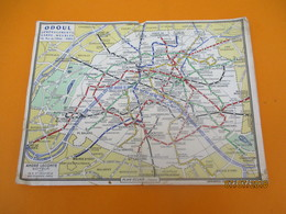 Publicitaire/Plan Du Métro De Paris/ ODOUL Déménagements -Garde Meubles/André LECONTE/ Plan éclair /1961     PGC207 - Carte Geographique