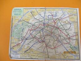 Publicitaire/Plan Du Métro De Paris/ ODOUL Déménagements -Garde Meubles/André LECONTE/ Plan éclair /vers 1960   PGC208 - Geographical Maps