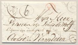 Nederland - 1782 - Complete EO Vouwbrief Van Dordrecht Met H In Cirkel Naar Aalst / Vlaanderen - Nederland