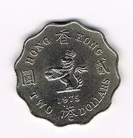 &   HONG KONG  2 DOLLARS  1975 - Hong Kong