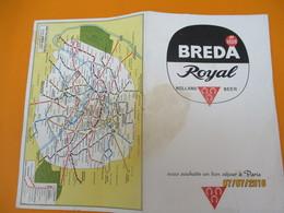 Publicitaire/Plan Des Monuments De Paris Et Du Métro /Holland Beer BREDA Royal/Editions ERKA/ 1957           PGC209 - Geographical Maps