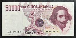 50000 Lire Gian Lorenzo Bernini I° Tipo Serie C 1986 Spl/sup LOTTO 348 - [ 2] 1946-… : République