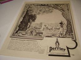 ANCIENNE PUBLICITE LES ROMAINS ET  PERRIER  1941 - Perrier