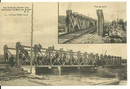 10 - BAR SUR AUBE / CRUE AUBE 1910 - LE PONT EIFFEL LANCE - Bar-sur-Aube