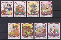 2338  WALT DISNEY - GUYANA ( Merry Christmas 1996 ) Snow Whit And The 7 Christmas Free Dwarves .. - Disney
