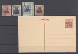 Dt. Bes. 1. WK Rumänien 9. Armee Mi.Nr. 1-4 Gestempelt Und 1 GA (22740) - Besetzungen 1914-18