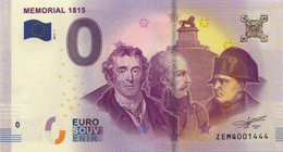 BELGIQUE NAPOLÉON BONAPARTE MÉMORIAL 1815 BILLET ZERO 0 EURO SOUVENIR 2017 BANKNOTE BANK NOTE O EURO SCHEIN MONEY - EURO