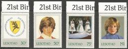 Lesotho  - 1982 Princess Diana MNH **   SG 514a-7a - Lesotho (1966-...)
