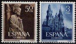 España 1954. Edifil 1130/31** - Año Santo Compostelano - 1951-60 Nuevos & Fijasellos