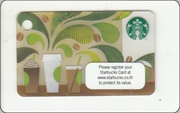 Thailand Starbucks Card  How To Make Coffee Mini Card - 2014-6101 - Gift Cards