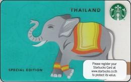 Thailand Starbucks Card Elephant Elefant 2013-6095 - Gift Cards