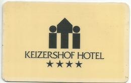 KEIZERSHOF HOTEL Hotelkeycard - Cartes D'hotel