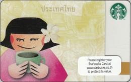 Thailand Starbucks Card Tempel Lady Elefant 2011-6079 - Gift Cards