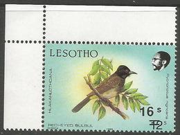 Lesotho  - 1990 Red-eyed Bulbul 16s/12s MNH **   SG 948 - Lesotho (1966-...)