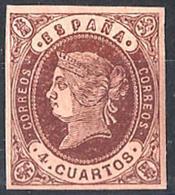 España Nº 58 En Nuevo - 1850-68 Kingdom: Isabella II