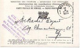 Ministere Des Finances / Oostende 1935 - Postdocumenten