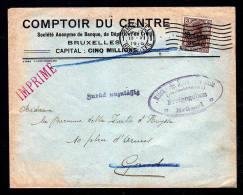 """BELGIEN - Drucksachenbrief 1916 Ab Brüssel Nach Gent, Zensur Und """"Zurück, Unzulässig"""" - Occupation 1914-18"""