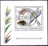DENEMARKEN 2003 Blok Insekten GB-USED - Gebraucht