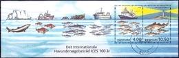 DENEMARKEN 2002 Blok ICES GB-USED - Gebraucht