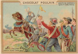 Chromo Poulain. N°3 / Ralliez Vous A Mon Panache Blanc - Chocolat
