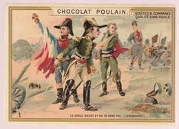 Chromo Poulain. N°1 / Le Garde Meurt Et Ne Se Rend Pas (cambronne) - Chocolat
