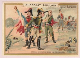 Chromo Poulain. N°1 / Le Garde Meurt Et Ne Se Rend Pas (cambronne) - Cioccolato
