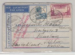 Nederlandsch-Indië, Airmail Letter Cover Travelled 1932 Kepahiang Pmk B180715 - Niederländisch-Indien