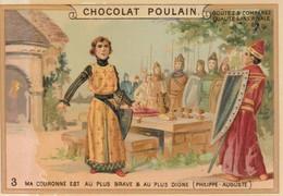Chromo Poulain. N°3 / Ma Couronne Est Au Plus Brave Et Au Plus Digne - Chocolate