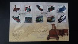 """Souvenir : """" Le Train En Modèle Réduit """" Timbres Numéro 3958/67 - Cartes Souvenir"""