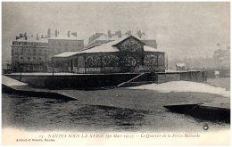 44 NANTES SOUS LA NEIGE (30 Mars 1915) - Le Quartier De La Petite Hollande - Nantes