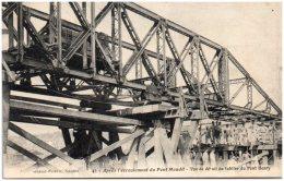 44 NANTES - Après L'écroulement Du Pont Maudit - Vu De Détail Du Tablier Du Pont Henry - Nantes